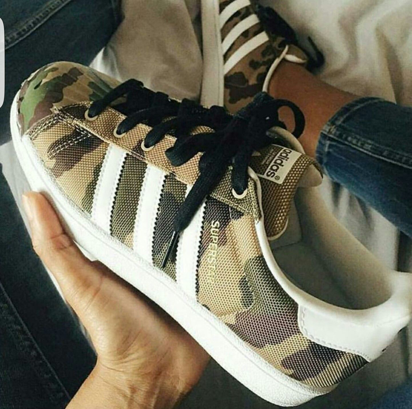 Love this Adidas sneaker with camouflage print!