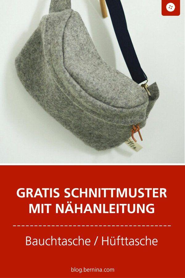 Kostenlose Anleitung Bauchtasche, Hüfttasche oder Umhängetasche #diytutorial