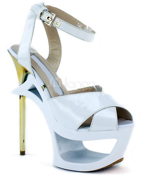 #Milanoo.com Ltd          #Peep Toes                #White #Buckle #Cowhide #Fashion #Peep #Shoes       White Buckle Cowhide Fashion Peep Toe Shoes                                   http://www.snaproduct.com/product.aspx?PID=5751289