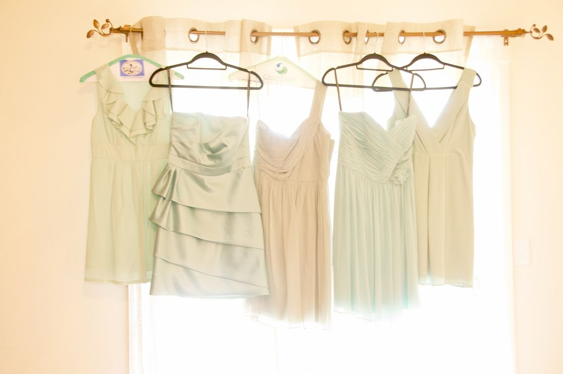 Love this of bridesmaids dresses.  Hillsdale,  WI  barn wedding from 2012