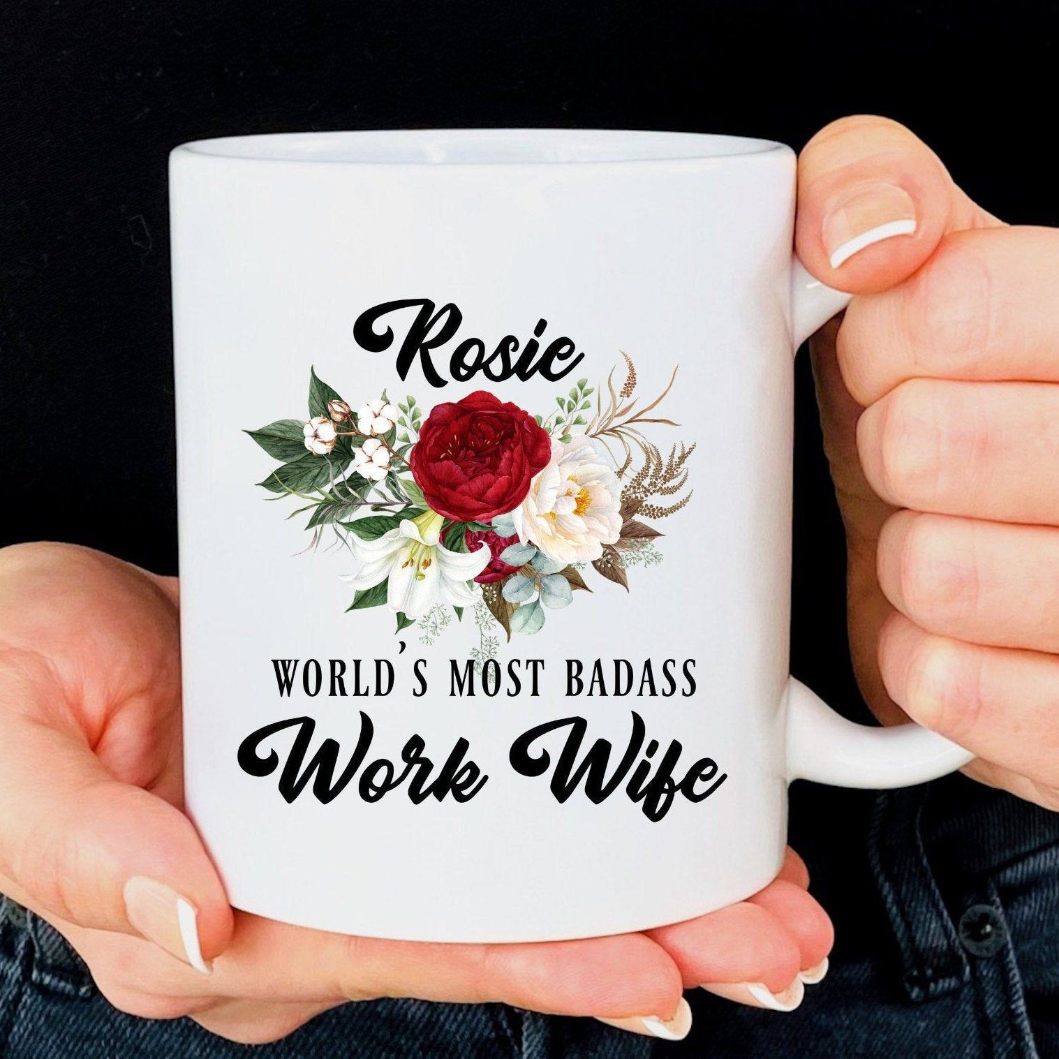 Personalized work wife gift for women work wife christmas