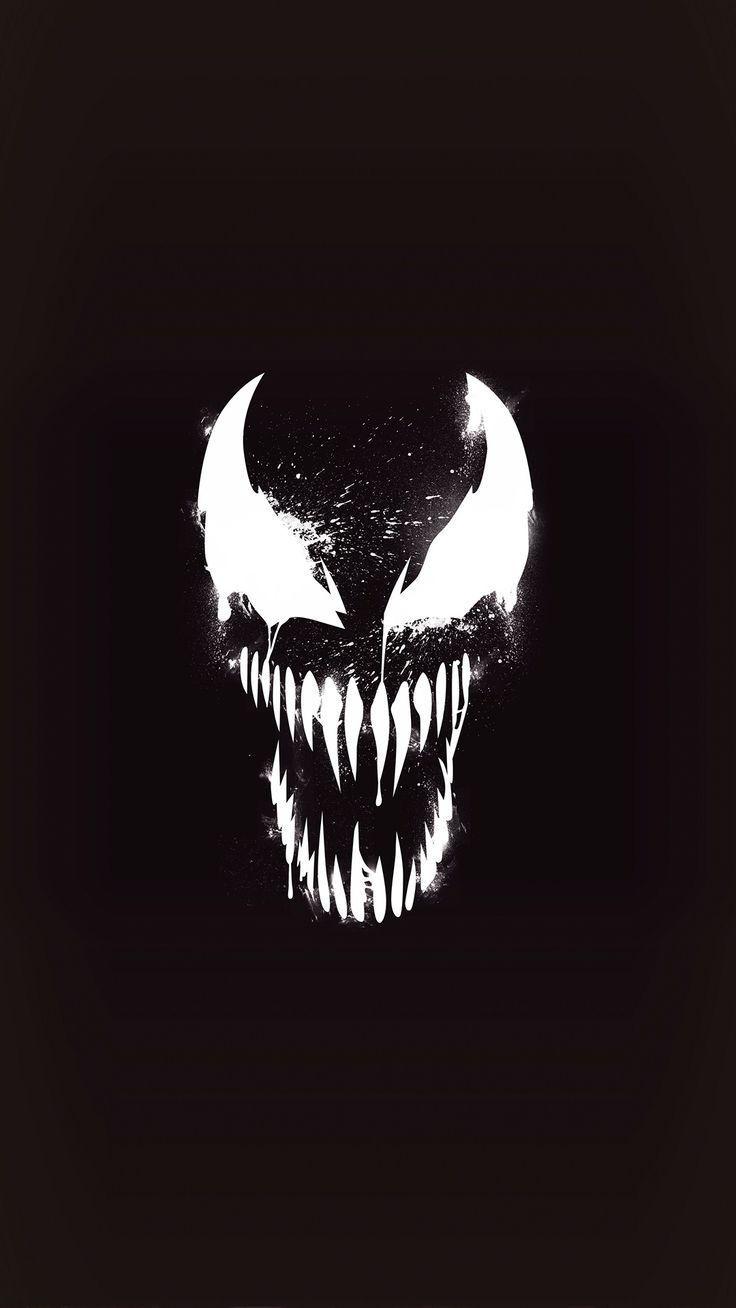 Venom Dark Minimal iPhone Wallpaper #darkwallpaperiphone