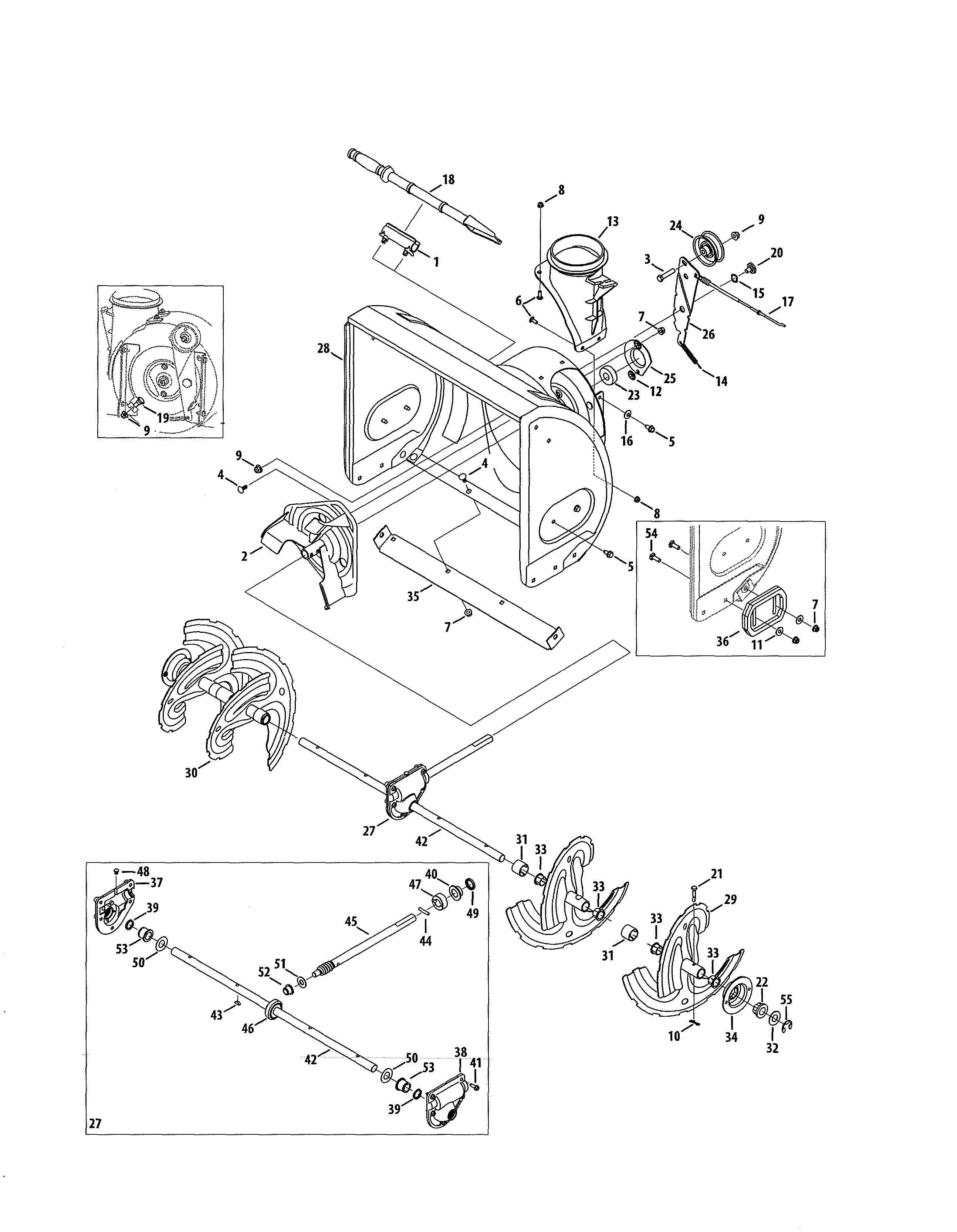 get craftsman parts and free manual for model 247 881733 gas snow blower here find [ 2588 x 3331 Pixel ]