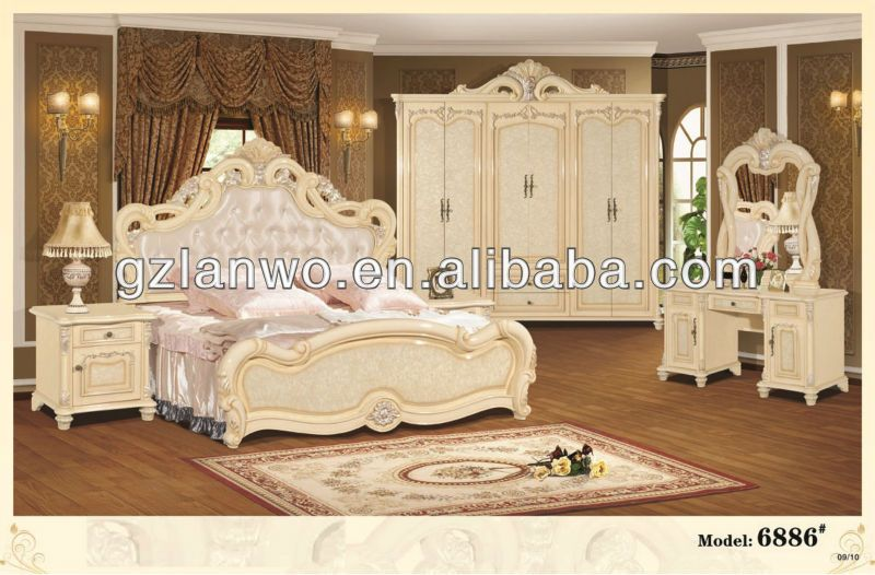 cheap european style home furniture fancy bedroom set with king size bed for sale item 6889. Black Bedroom Furniture Sets. Home Design Ideas