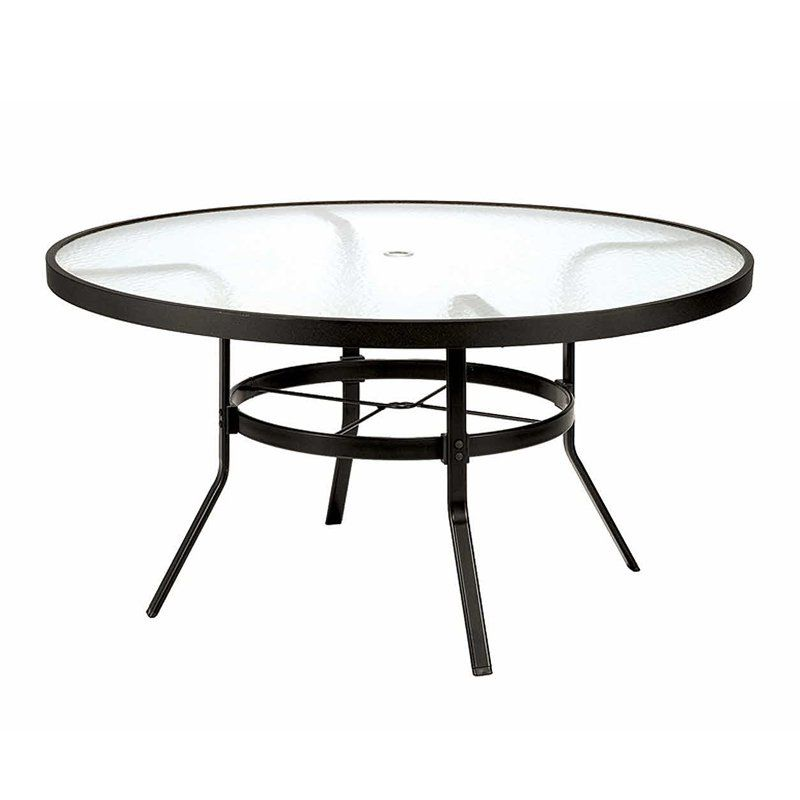 Outdoor Winston 48 In Obscure Gl Top Round Patio Dining Table M8148rgu