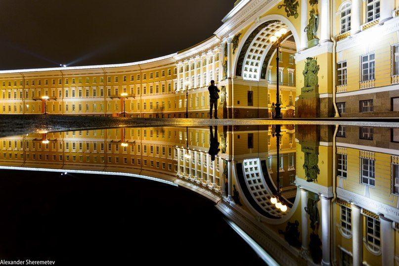 Ночные фото Санкт-Петербурга: отражения (с изображениями ...