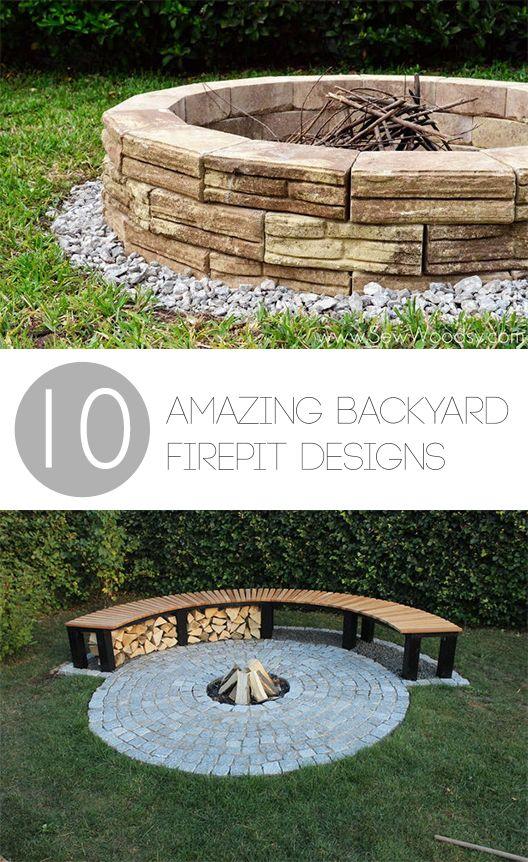 Merveilleux 10 Amazing Backyard DIY Firepit Designs