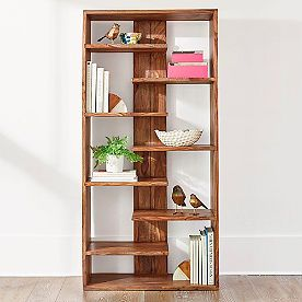 Atlas Sheesham Bookcase Grandin Road Fully Assembled Small