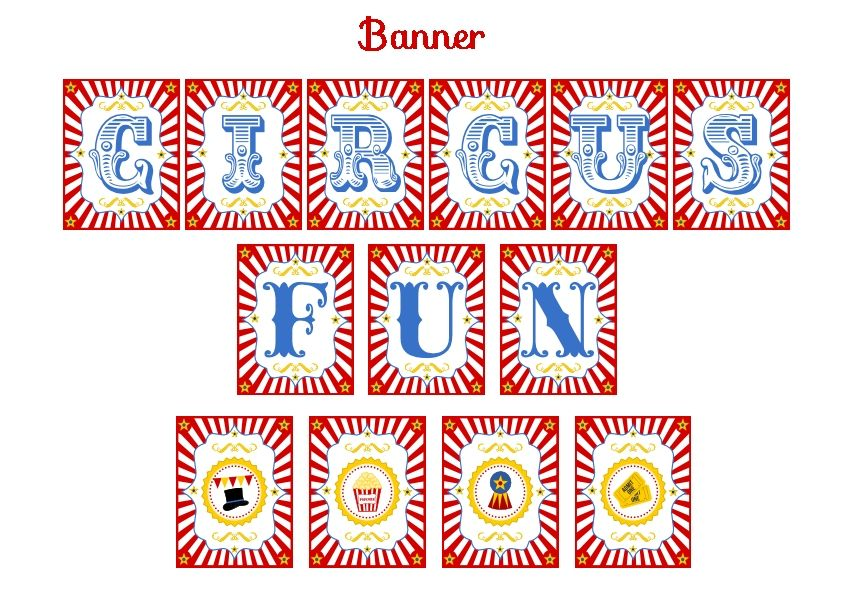 Download These Free Circus Printables For A Fun Party Birthday Party Printables Circus Party Circus Theme Party