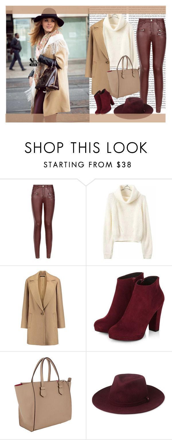 """""""Turtleneck Crop Beige Sweater- SHEIN"""" by cherry-bh ❤ liked on Polyvore featuring Parisian, Theory, Moreau, Whistles and shein"""
