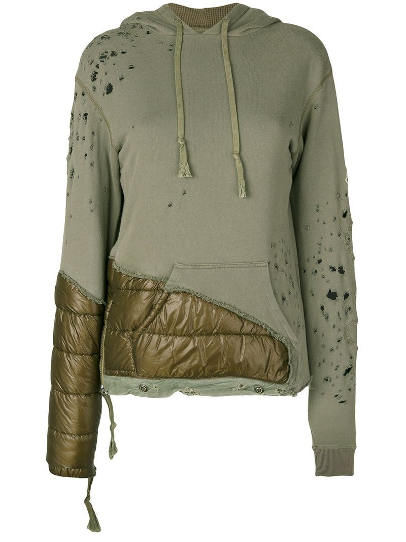 MONCLER X CRAIG GREEN MONCLER X CRAIG GREEN - PADDED PANEL DISTRESSED HOODIE . #monclerxcraiggreen #cloth #