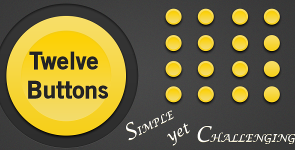 Twelve Buttons Android Game App template design, Mobile