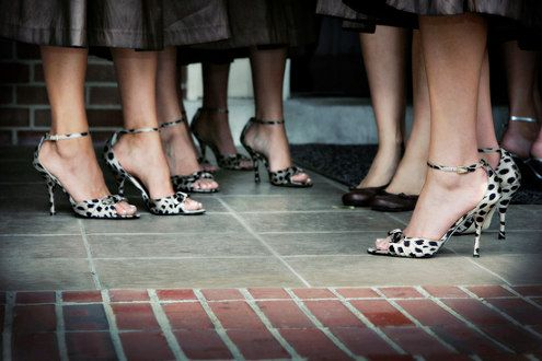 LOVE the idea of adding some printed shoes to solid dresses for the bridal party. What do you think?