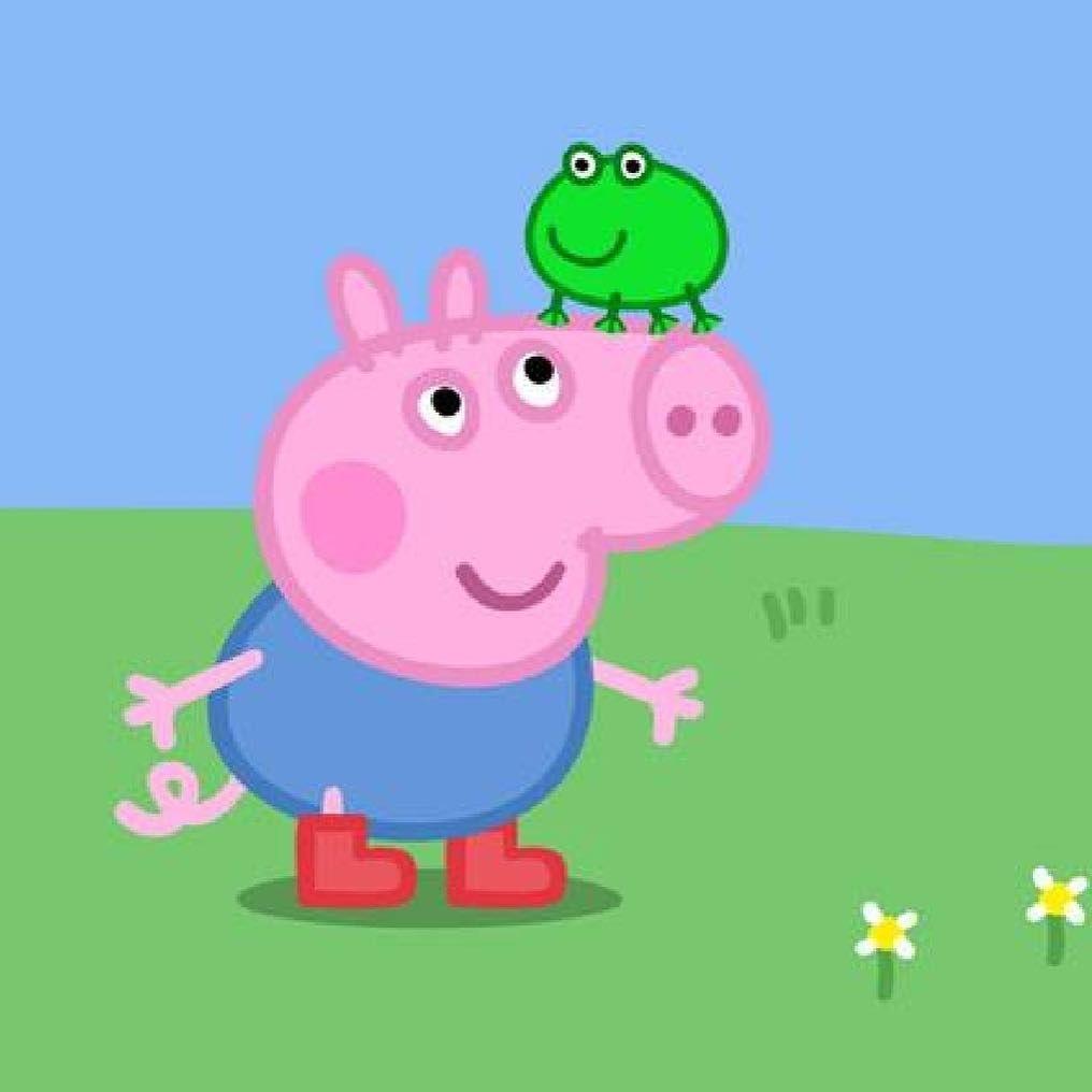Happy George Peppapig Peppa Georgepig Peppa Pig Memes Peppa Pig Wallpaper Peppa Pig Stickers