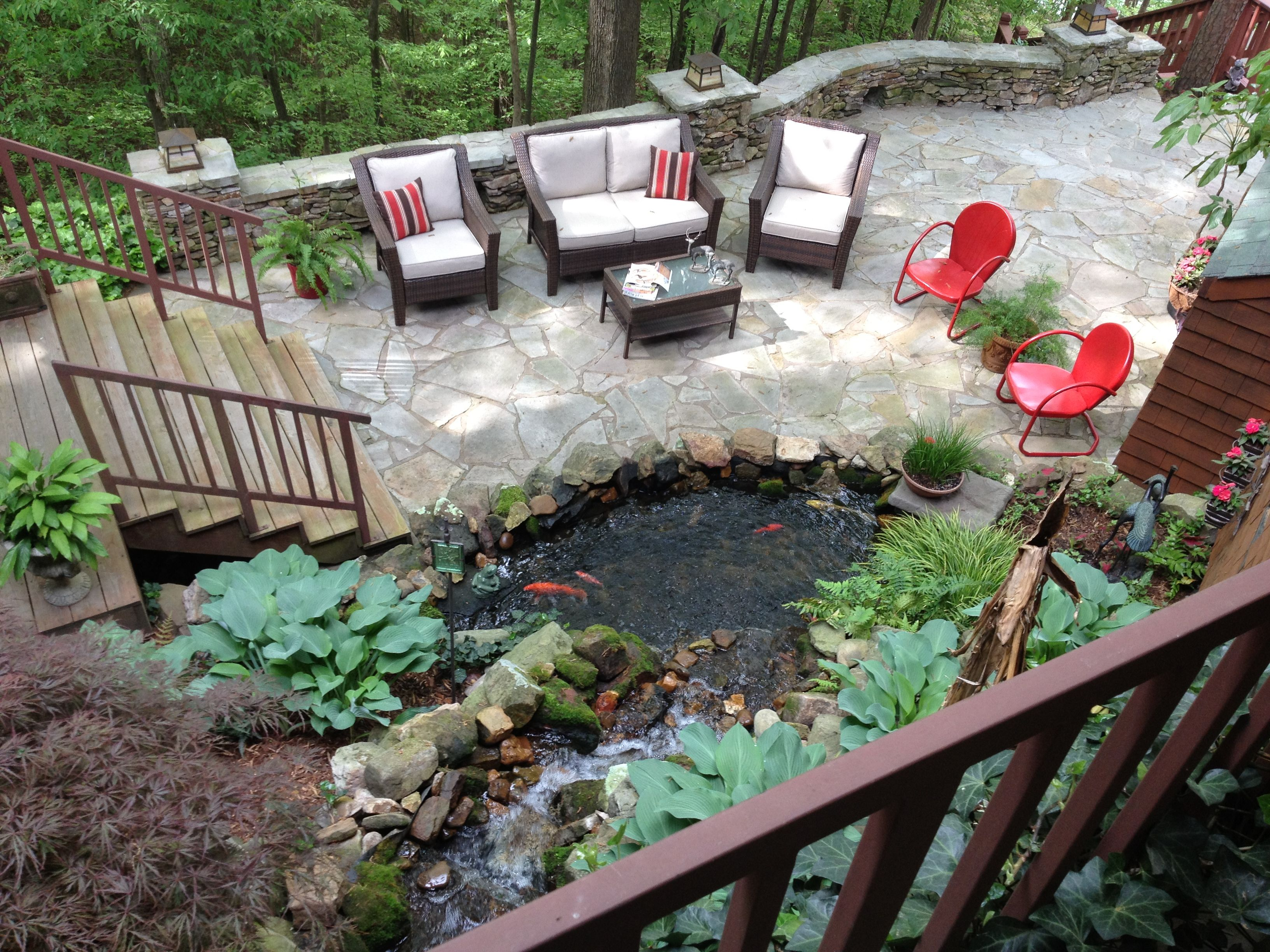 A Beautiful Water Garden On Pickwick Lake In Tn Designed And Built By Carters Nursery Pond Patio