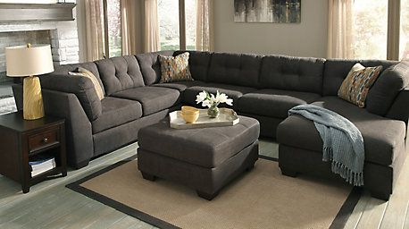 Best Benchcraft Delta City Stationary Chaise Sectional With 640 x 480