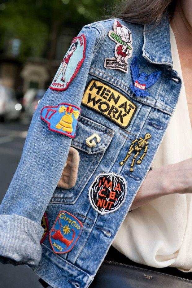 b495b8956bf Джинсовая куртка с нашивками (27 фото)  виды нашивок и аппликаций ...