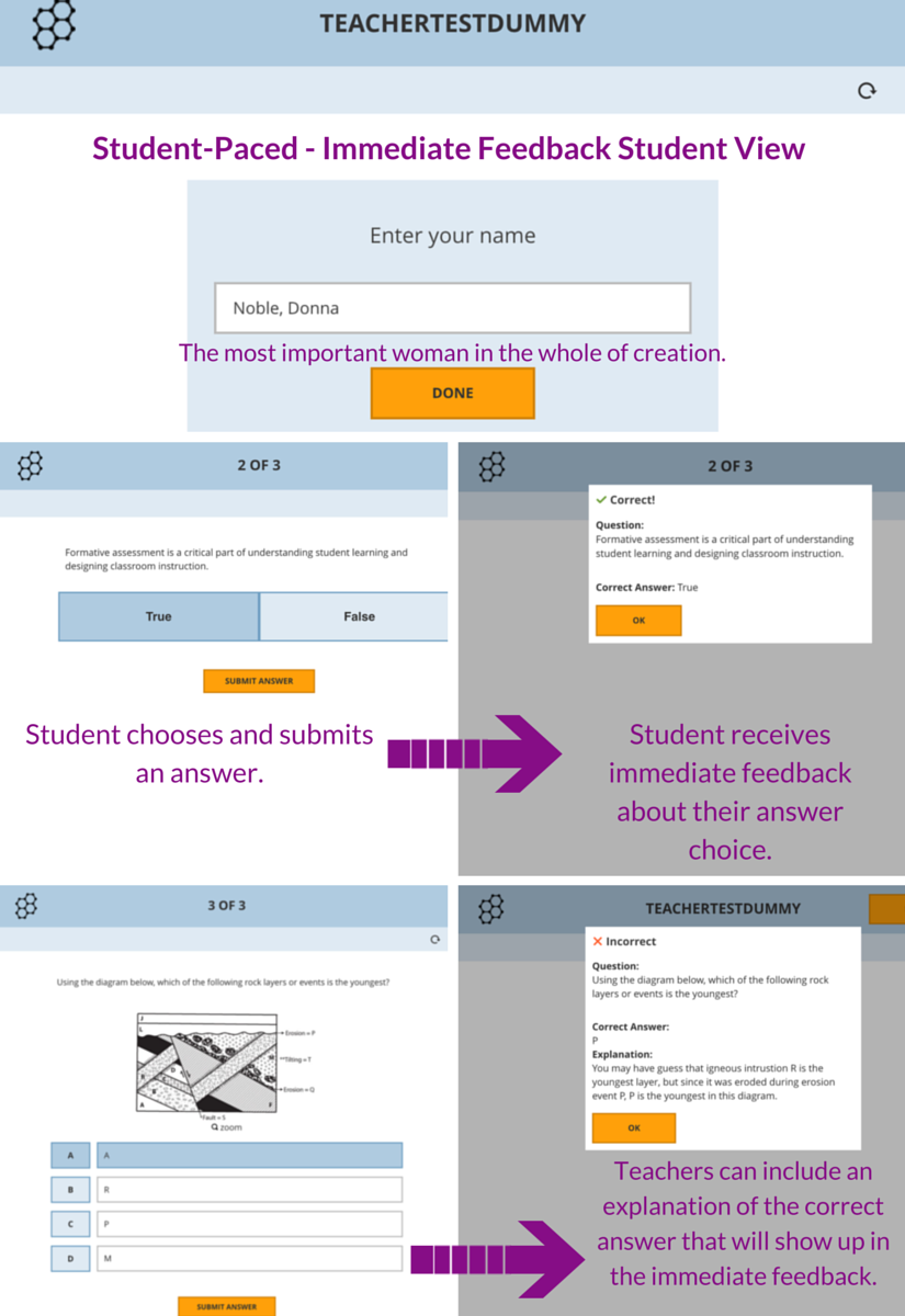 Socrative Student Paced Immediate Feedback Student View Have