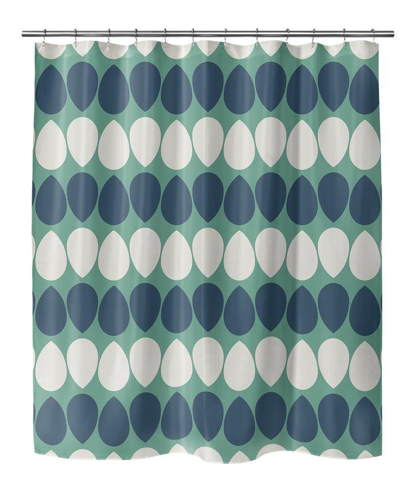 Wilma Dark Seafoam Shower Curtain By Bg Riley Curtains Color