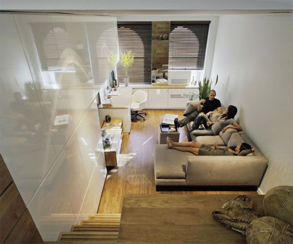 Modern Studio Apartment Decorating Ideas As Small Living Places Minimalist Style Wooden Stairs