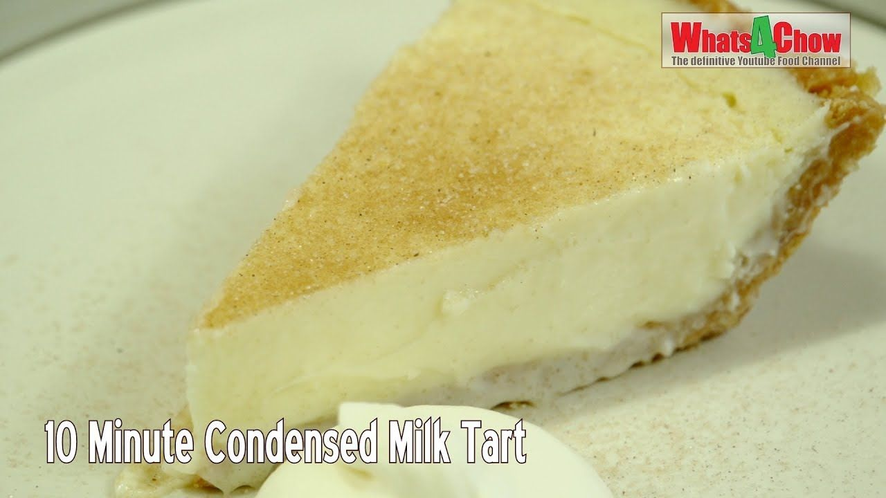 10 Minute Condensed Milk Tart No Bake Condensed Milk Tart Easy No Bake Tart Whats4chow Youtube In 2020 Milk Tart Tart Baking Easy Puddings