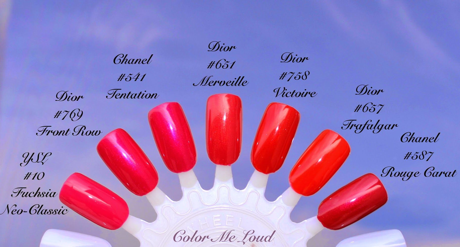 Comparisons of Dior Vernis #769 Front Row and #758 Victoire with ...