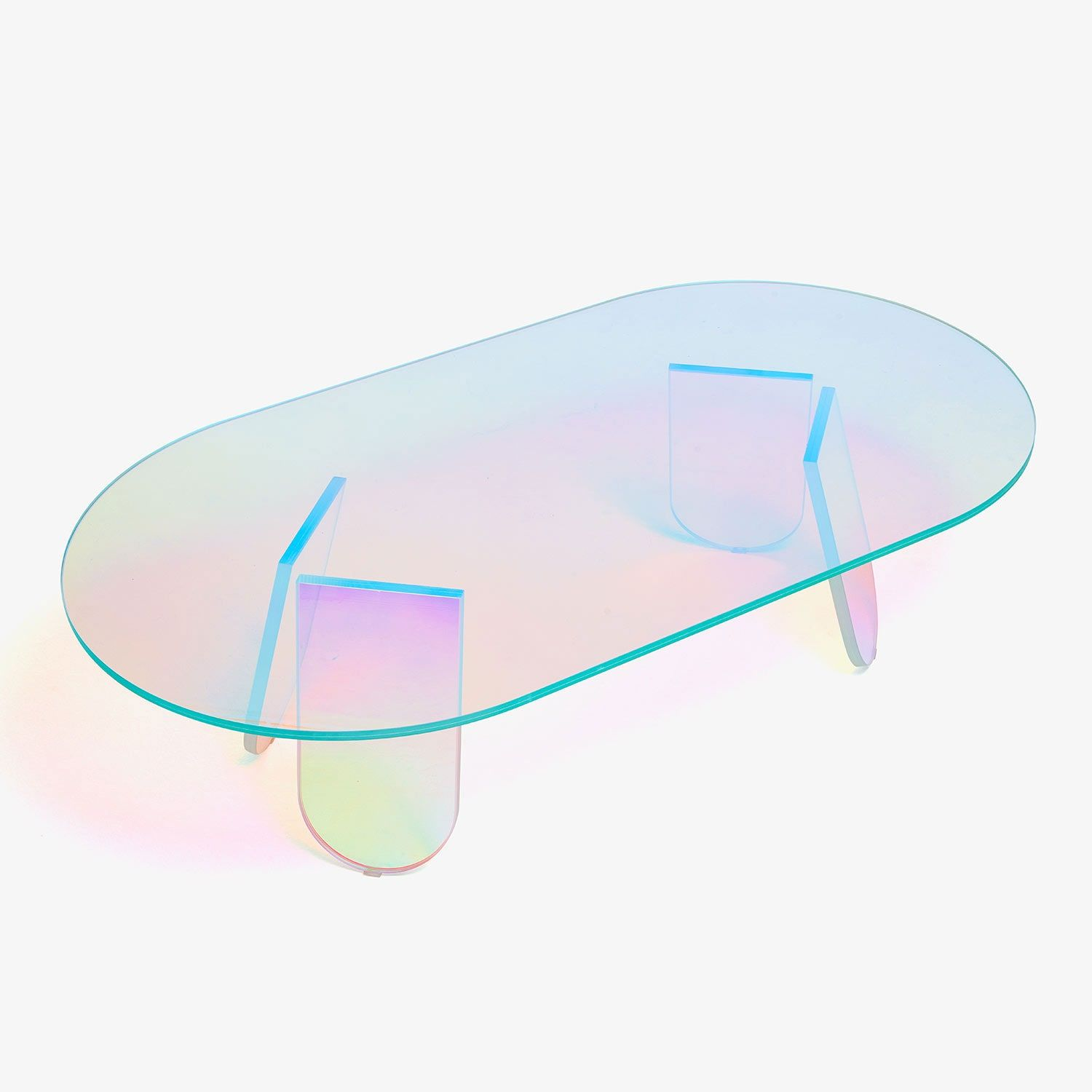 25 Glass Coffee Tables For Any And Every Living Room Acrylic Coffee Table Modern Furniture Decor Iridescent Decor [ 1500 x 1500 Pixel ]