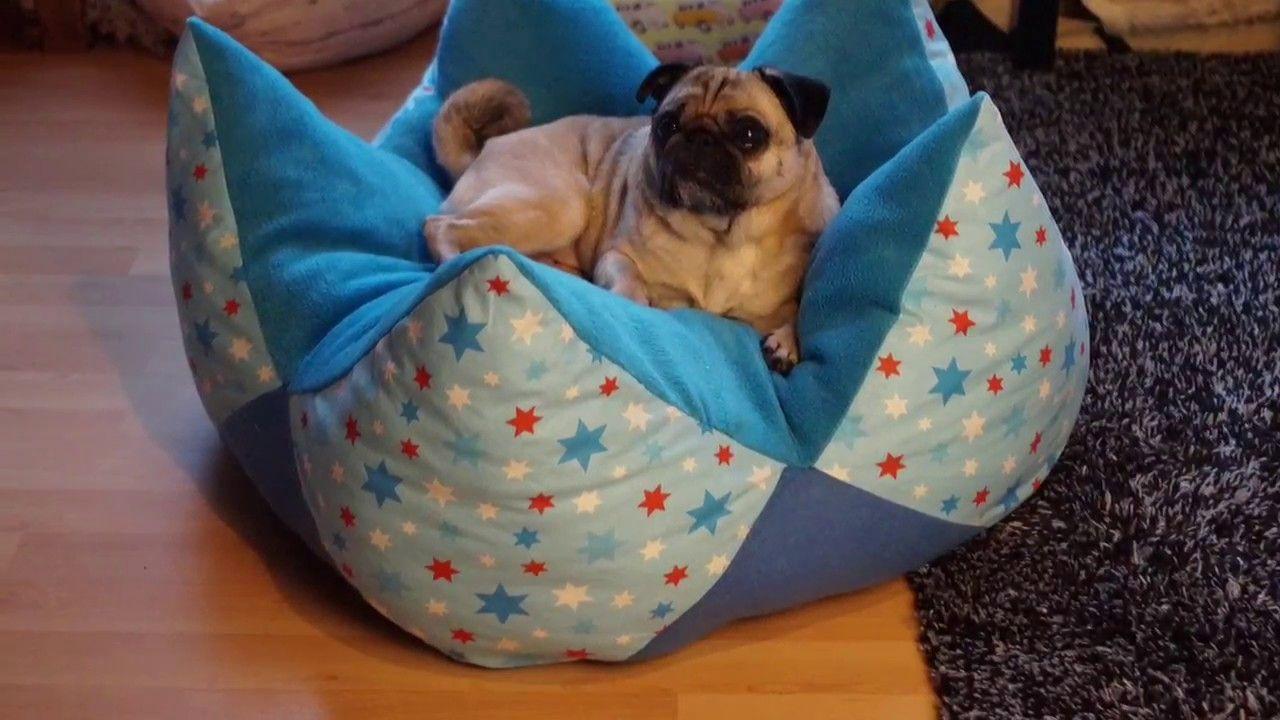 DIY Kronenkissen.Sternenkissen - Körbchen für Hunde #whatkindofdog