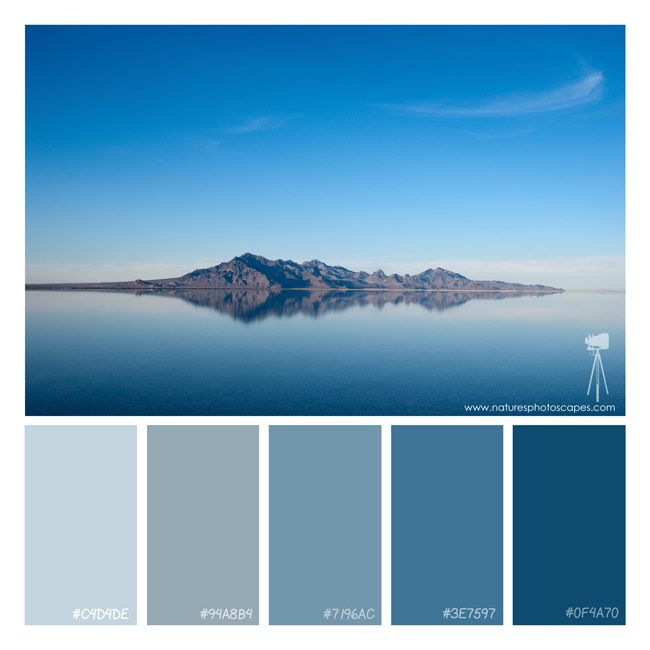 The Great Salt Lake Water Blue Mountain Color Scheme Palette Photography