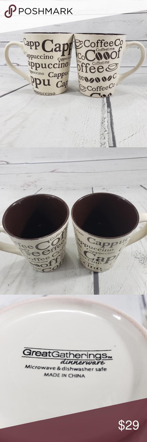 Great Gatherings Dinnerware Mugs Coffee Cappuccino In 2020 Dinnerware Cappuccino Mugs