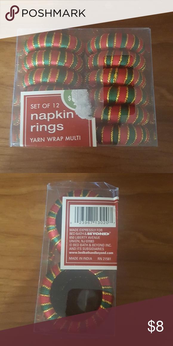 Set Of 12 Napkin Rings Bed Bath Beyond Set Of 12 Napkin Rings