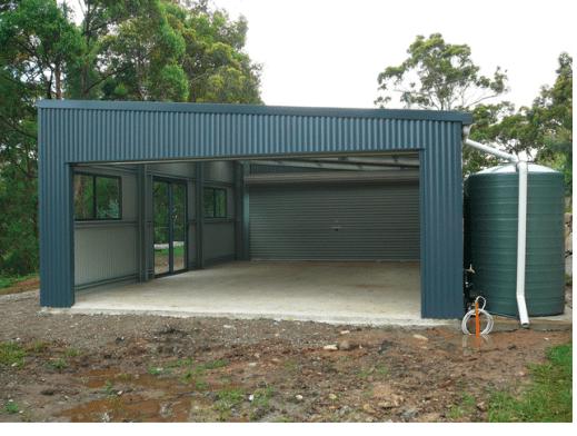 skillion roof garage in australia shedplans Skillion