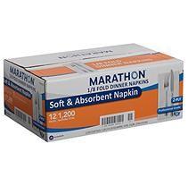 Marathon 1 8 Fold Dinner Napkin White 100 Napkins 12 Packs Dinner Napkins Paper Dinner Napkins Napkins
