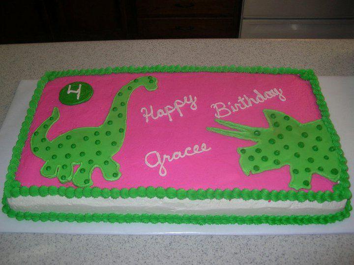 Girl Dinosaur Cake