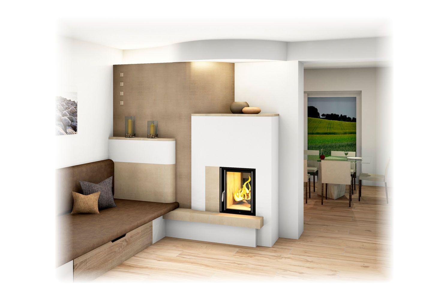 kachelofen modern mit sichfenster und liegefl che wohnideen pinterest house styles home. Black Bedroom Furniture Sets. Home Design Ideas