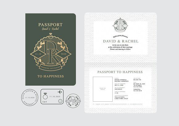 Passport wedding invitation vector passport wedding invitations passport wedding invitation vector passport wedding invitations adobe illustrator and adobe stopboris Gallery