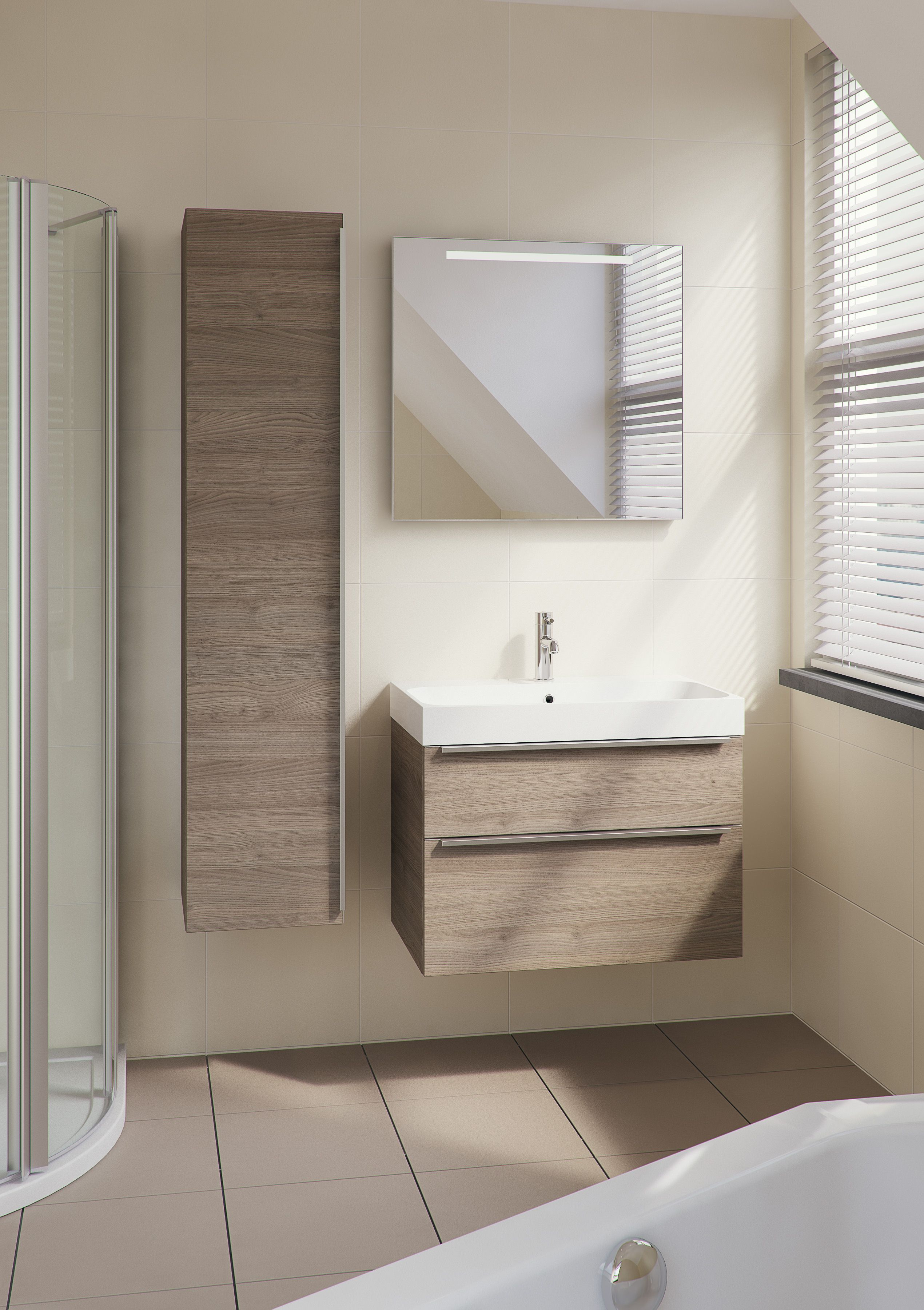 Bruynzeel Kiyo 75 cm tortona // badmeubel badkamer sanitair ...