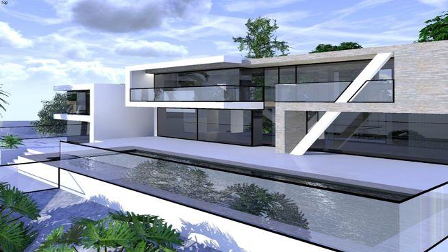 modern house - 3D Warehouse | SU | 模型 | 民宿建筑