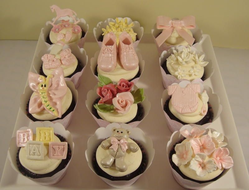 Sweet Baby Girl Shower Cupcakes Cupcakes Pinterest Baby Shower