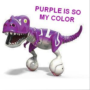 #Zoomer #Dino #Sparky #Purple is an interactive purple Dino dinosaur that spins and chomps and entertains the kids for hours.