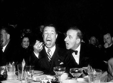 Joe E. Brown and Jimmy Durante at Ciro's Nightclub, 1941.