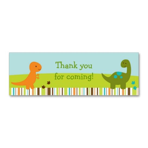Dinosaur Baby Shower Favor Tag Goodie bags and Shower favors - bag tag template