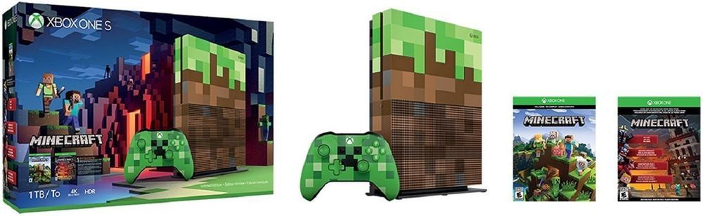 NEW Microsoft Xbox S 1 One Minecraft Limited Edition Bundle