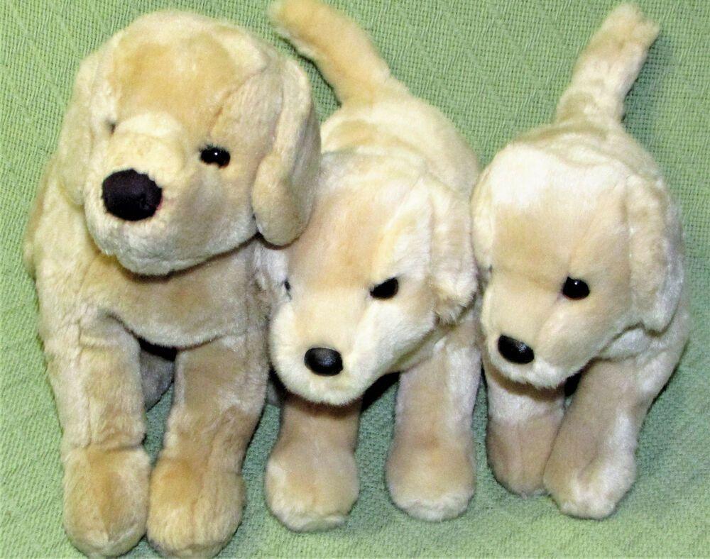 Douglas Puppy Dog Lot Yellow Lab Golden Retriever Plush Stuffed
