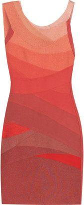 6de024382b0 ShopStyle  Hervé Léger Cyrille ombré dress