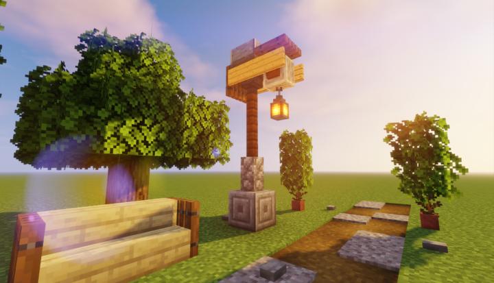 Simple Street Lamp Design Minecraft Decorations Minecraft Designs Minecraft