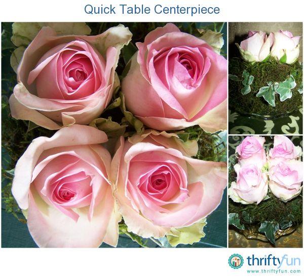 Quick Table Centerpiece Flower Arrangements Diy Cheap Wedding Centerpieces Centerpieces