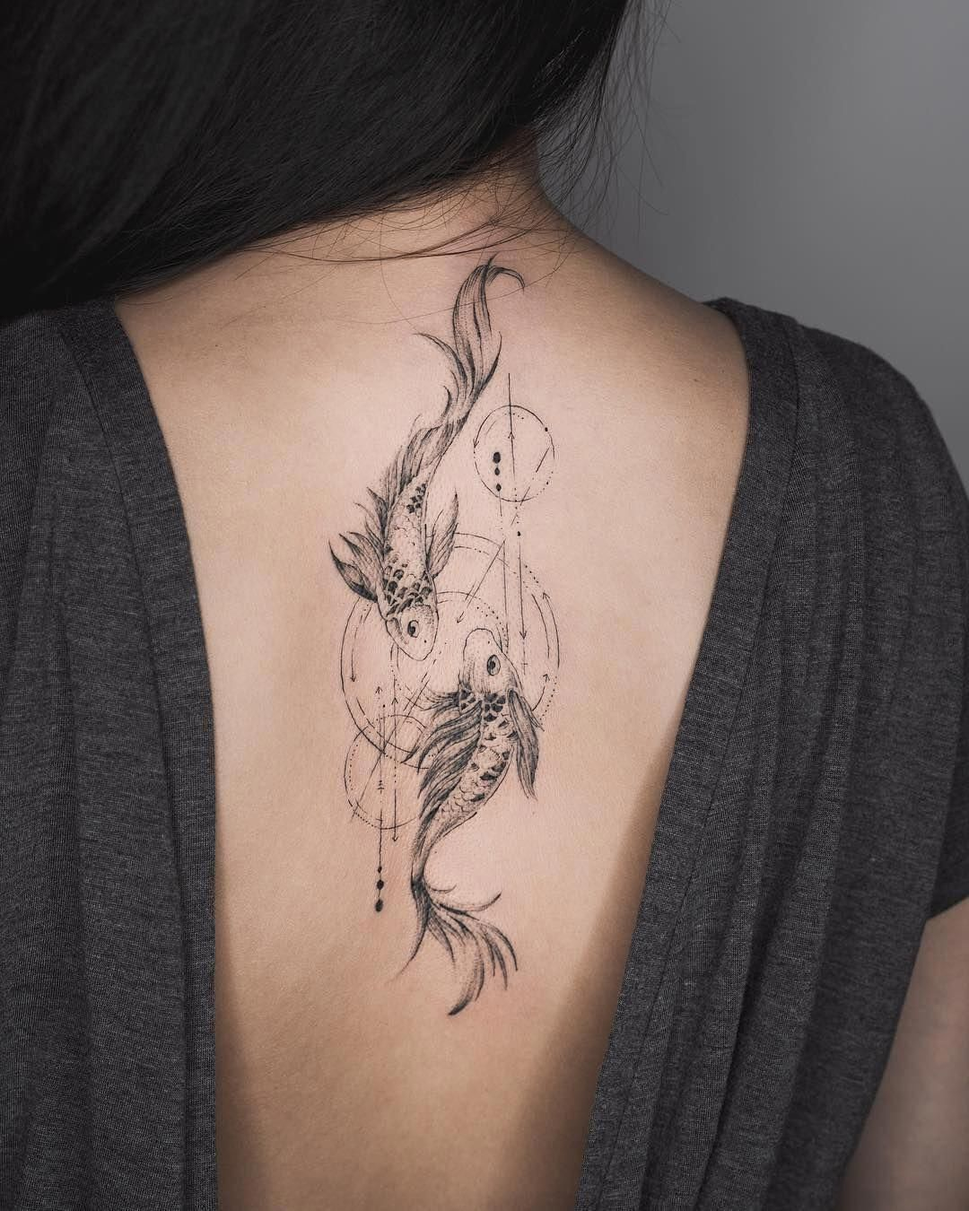Pisces Tattoo Neck Tattoo Tattoos Tattoos For Women