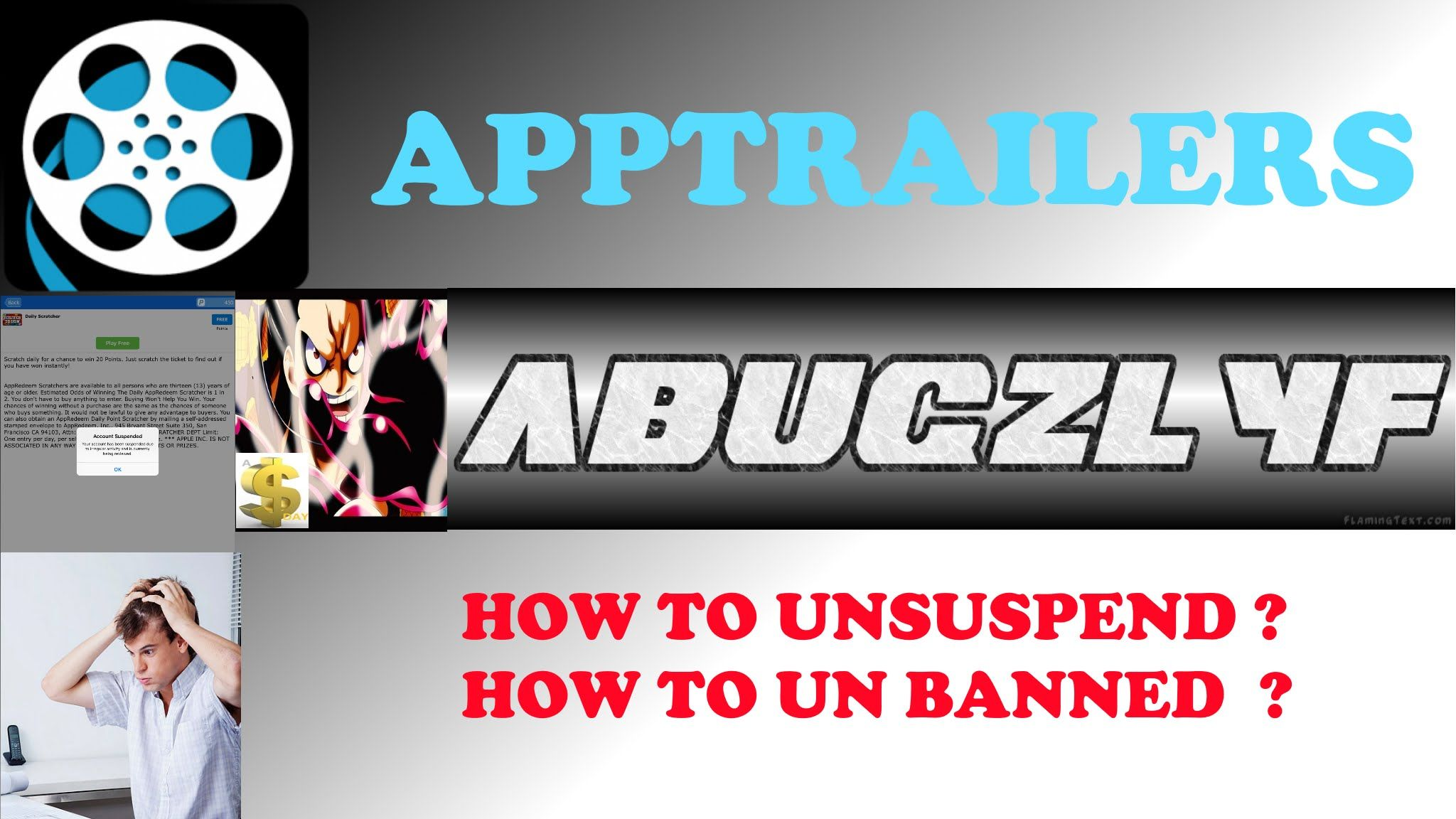 This is a tutorial on how to unbanned or unsuspend