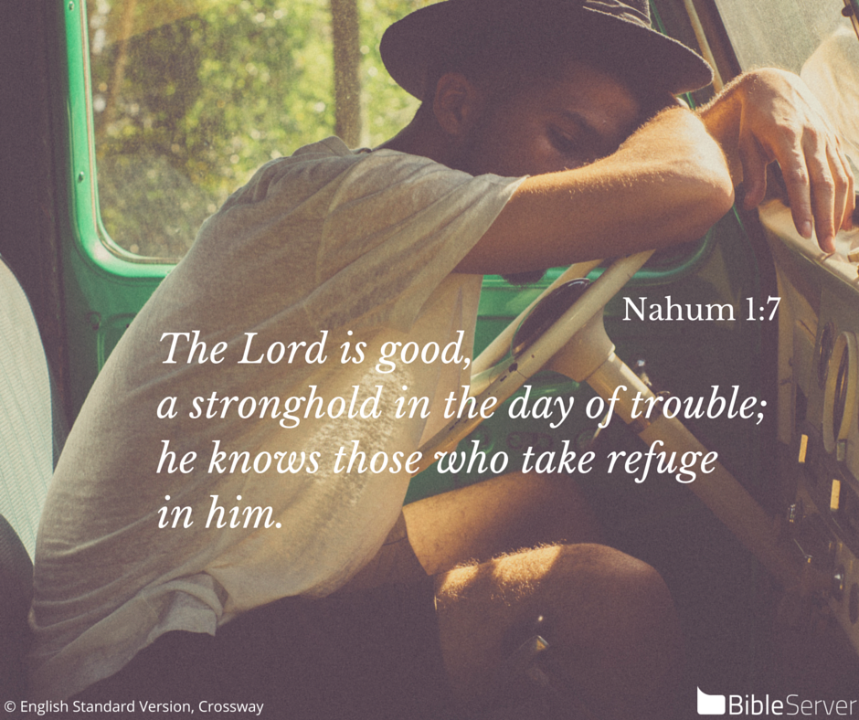 Read this #Bible Verse on BibleServer | Nahum 1:7
